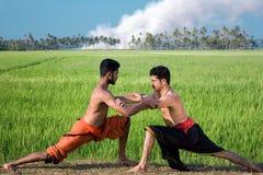 Kalari, indian martial art. Kalarippayat, indian ancient martial art of Kerala stock photography