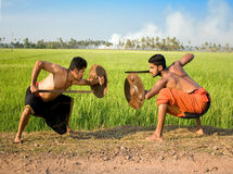 Kalari, indian martial art. Kalarippayat, indian ancient martial art of Kerala stock image