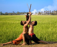Kalari, indyjska sztuka samoobrony Zdjęcia Stock