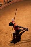 Kalaripayattu武术在喀拉拉,南印度 免版税库存照片