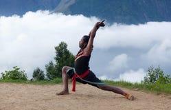 Kalaripayattu-Kampfkunst in Kerala, Süd-Indien Lizenzfreie Stockfotografie