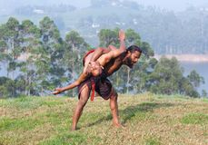 Kalaripayattu Martial Art in Kerala, India Stock Photos