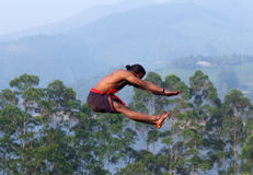 Kalaripayattu Martial Art in Kerala, India Stock Image