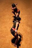 Kalaripayattu Martial Art in Kerala, India. KERALA, INDIA - NOVEMBER 11, 2016: Indian fighters performing Kalaripayattu marital art. Kalaripayattu is an ancient Royalty Free Stock Image