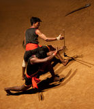 Kalaripayattu Martial Art in Kerala, India. KERALA, INDIA - NOVEMBER 11, 2016: Indian fighters performing Kalaripayattu marital art. Kalaripayattu is an ancient Stock Photos