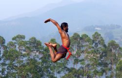Kalaripayattu Martial Art in Kerala, India Royalty Free Stock Image