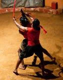 Kalaripayattu Martial Art in Kerala, South India Royalty Free Stock Photo