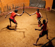 Kalaripayattu Martial Art in Kerala, South India Royalty Free Stock Photos