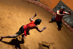 Kalaripayattu Martial Art in Kerala, South India Stock Images
