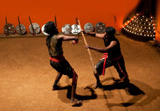 Kalaripayattu Martial Art in Kerala, South India Stock Image