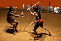Kalaripayattu Martial Arts demonstation in Kerala, South India Royalty Free Stock Photography