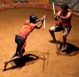Kalaripayattu Martial Arts in Kerala, South India Royalty Free Stock Photos