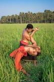 Kalarippayat, ινδική αρχαία πολεμική τέχνη του Κεράλα στοκ φωτογραφία με δικαίωμα ελεύθερης χρήσης