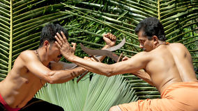 Kalarippayat, ancient martial art of Kerala Stock Images