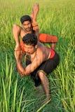 Kalarippayat, arte marcial antiga indiana de Kerala imagens de stock