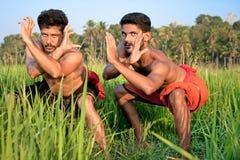Kalarippayat, arte marcial antiga indiana de Kerala imagem de stock royalty free