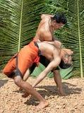 Kalarippayat, arte marcial antiguo de Kerala Foto de archivo libre de regalías