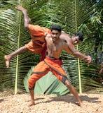 Kalarippayat,  indian ancient martial art Stock Photos