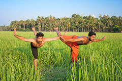 Kalarippayat, indian ancient martial art of Kerala Royalty Free Stock Photography