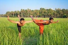 Kalarippayat, indian ancient martial art of Kerala royalty free stock photography