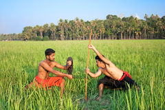 Kalarippayat, indian ancient martial art of Kerala Royalty Free Stock Images