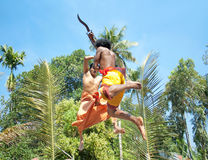 Kalarippayat, indian ancient martial art of Kerala Stock Images