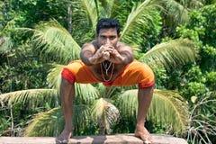 Kalarippayat, indian ancient martial art of Kerala stock image