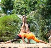 Kalarippayat, indian ancient martial art of Kerala. India stock photography