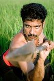 Kalarippayat, indian ancient martial art of Kerala Royalty Free Stock Image