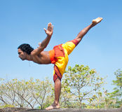Kalarippayat, indian ancient martial art of Kerala Stock Photography