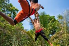 Kalarippayat, indian ancient martial art of Kerala Royalty Free Stock Photo