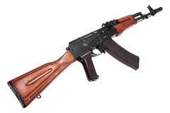Kalaschnikow-Sturmgewehr ak-74n lizenzfreie stockfotos