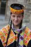 Kalash女孩,在Chitral,巴基斯坦 免版税图库摄影