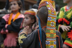 Kalash child, in Chitral, Pakistan Royalty Free Stock Images