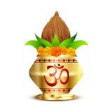 Kalash de Pooja Imágenes de archivo libres de regalías