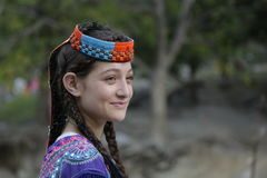 Kalash girl, in Chitral, Pakistan Stock Photo