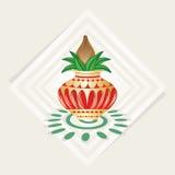 Kalash illustration med kräm- färgbakgrund Arkivbild