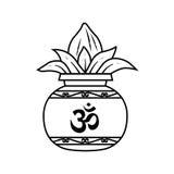 Kalash. Pooja kalash with om symbol Stock Photography