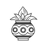 Kalash. Pooja kalash with om symbol Stock Images