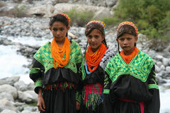 Kalasha children royalty free stock photo