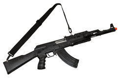 Kalashnikov AK-47 machine gun. Isolated on white. Clipping path included Stock Photo