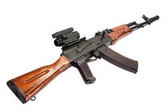 Kalashnikov AK assault rifle Royalty Free Stock Image