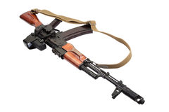 Kalashnikov AK assault rifle with optical sight Royalty Free Stock Image