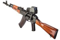 Kalashnikov AK assault rifle with optical sight Stock Images