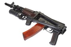 Kalashnikov AK 74 com o lançador de granadas GP-25 Fotos de Stock Royalty Free