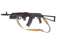 Kalashnikov AK com o lançador de granadas GP-25 Imagem de Stock Royalty Free