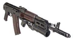 Kalashnikov AK 74 con el lanzagranadas GP-25 Foto de archivo