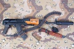 Kalashnikov concept background Royalty Free Stock Images