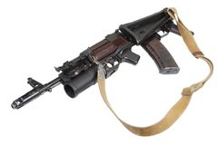 Kalashnikov AK with GP-25 grenade launcher Stock Photography