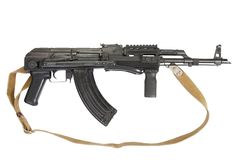 Kalashnikov AK-47. Isolated on white Royalty Free Stock Photos